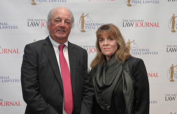 Joe Rice and Jodi Flowers at the 2020 Elite Trial Lawyers Awards